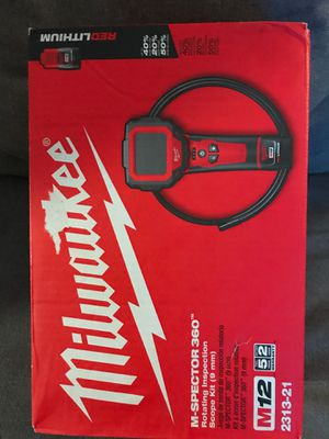 Milwaukee 360 inspection camera 12v kit for Sale in Arlington, VA