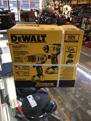 DeWALT DCK221F2 XTREME 12V MAX Brushless Cordless Drill and Impact Combo Kit for Sale in Nahant, MA