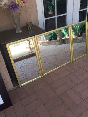 Mirror, tri fold gold minimal damage for Sale in Phoenix, AZ
