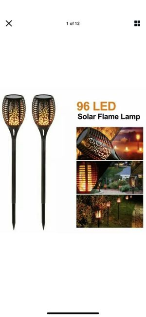 96 led solar power torch light lamp garden yard for Sale in Hardeeville, SC