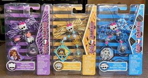 Lot-3 Monster High Jewelry Charms Toys Frankie Stein Clawdeen Wolf Cleo Nile NEW for Sale for sale  Los Angeles, CA