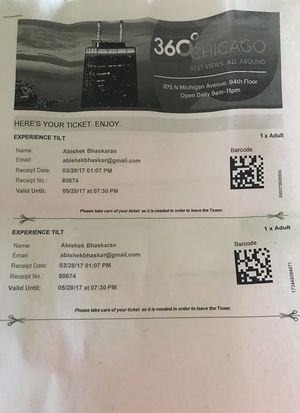 5 Tickets for Tilt Chicago for Sale in Richmond, VA