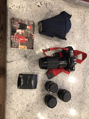 Canon T50 plus zoom and standard lenses for Sale in Willowbrook, IL