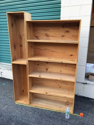 Solid wood rustic adjustable storage crates bookshelves. Lots of combinations $15 each for Sale in Worcester, MA