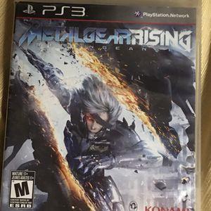 Metal Gear Rising: Revengeance (Sony PlayStation 3, 2013) PS3 Complete W/ Manual for Sale in Winnsboro, SC