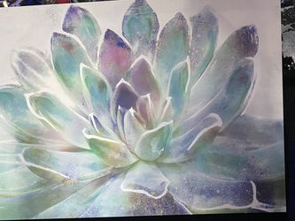 Lotus Flower Wall Canvas for Sale in Pompano Beach,  FL