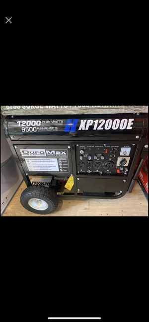 Brand new never seen gas H XP 12000E gas generator electric start for while house take advantage before its gone 850 cash firm price for Sale in Plant City, FL