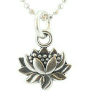 Lotus Flower Pendant & Sterling Chain for Sale in New Orleans, LA