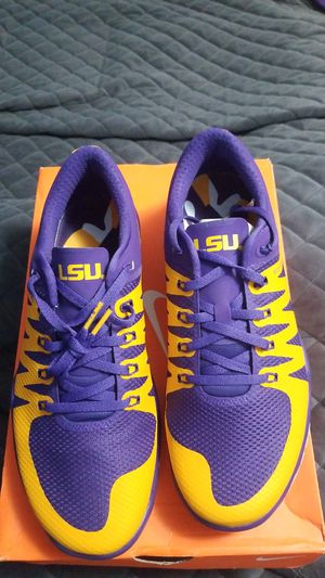 Very hard to fine LSU brand new Nike training shoes never worn for Sale in North Ridgeville, OH