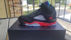 Nike Air Jordan Retro 5 Top 3 Size 9.5 Mens CZ1786-001 100% OG for Sale in Shawnee, KS