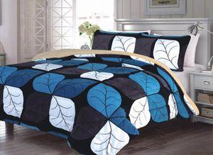 King size blanket brand new 3 pc set borrego quality for Sale in Salem, OR