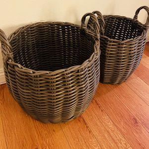 Outdoor Storage Basket Set - Weather Resistant for Sale in Los Angeles, CA