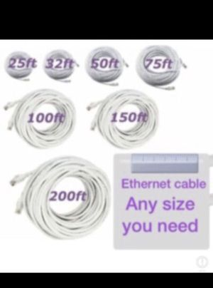 Ethernet cable Any size for Sale in Chula Vista, CA