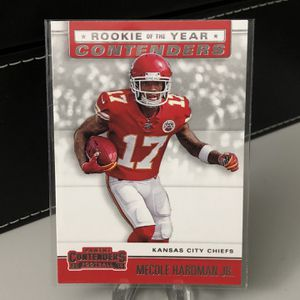 Mecole Hardman Jr. 2019 Panini Contenders ROOKIE OF THE YEAR Contenders Kansas City Chiefs for Sale in Pompano Beach, FL