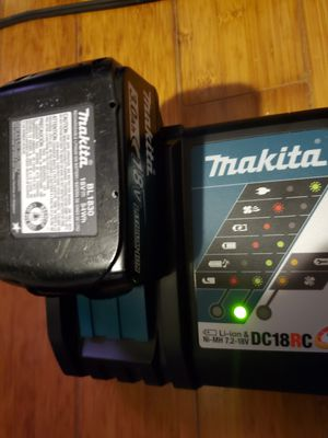 Makita charger and 3 batteries for Sale in San Marcos, CA
