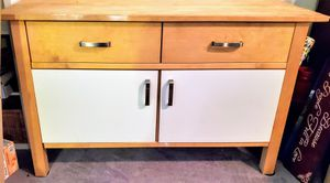 Butcher Block Top- Heavy solid wood storage cabinet with 2 drawers, bottom Storage. for Sale in Mesa, AZ