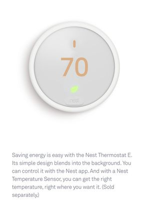 Google Nest Thermostat E for Sale in Bethesda, MD