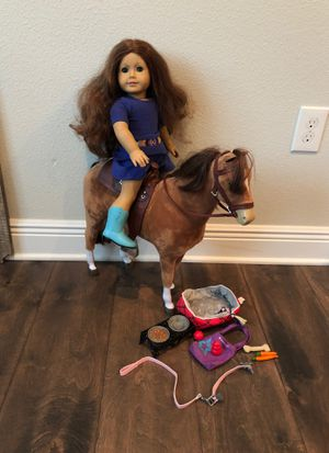 American girl doll, Sage with horse for Sale in Tampa, FL