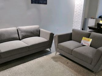 MODERN NEW QUITO FABRIC SOFA AND LOVESEAT. ADD A SHAG RUG! DIFFERENT COLORS! TAKE HOME TODAY! NO CREDIT CHECK FINANCING $49 DOWN! SAME DAY DELIVERY! for Sale in St. Petersburg,  FL