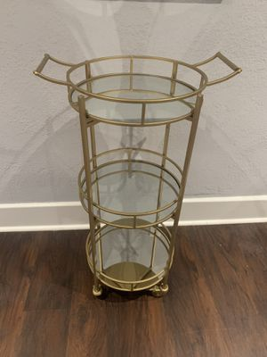 Gold & mirrored storage cart for Sale in San Diego, CA