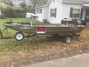 2015 G3 1652 VBW Boat 2015 Yamaha 9.9 Fourstroke Tiller Outboard 2015 Yaucht Club Trailer for Sale in Pennsboro, WV