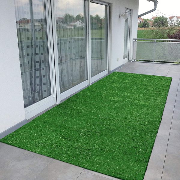 Turf Runner Area Rug Mat indoor/outdoor Green Artificial Grass 4 Patio Set, Camping tent, Swimming Pool area or for dogs play pen