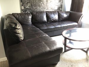 Leather Sectional Couch for Sale in Lansdowne, VA