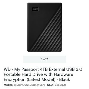 WD - My Passport 4TB external USB 3.0 for Sale in San Angelo, TX