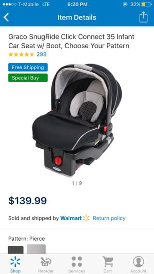 Graco SnugRide click connect 35 infant car seat for Sale in Las Vegas, NV
