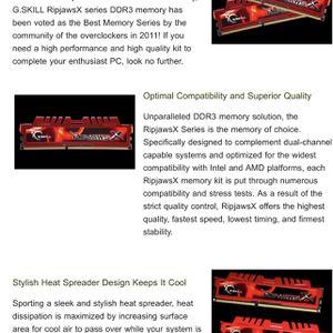 G Skill Rip jaws X Series DDR3 16x 2 & 32x4 for Sale in Jacksonville Beach, FL