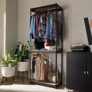 Baxton Studio 3 tier shelf and hanger closet organizer for Sale in Riverside, CA