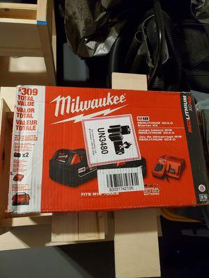 Milwaukee m18 fuel 4ah starter kit for Sale in Oswego, IL