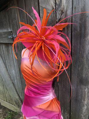 orange/pink dress Sz.5/6( more like 3/4)... or pink dress Sz.16-$100/set or $85/hat alone! for Sale in Louisville, KY