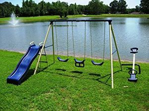 Currently looking for a swingset or any other outside play equipment for my two toddlers for Sale in Ottumwa, IA