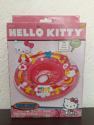 HELLO KITTY BABY BOAT INFLATABLE FLOAT CHAIR BABY 6-18 MONTHS for Sale in Fontana, CA