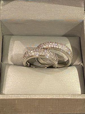 Unisex—-Sterling Silver Ring Set - Code BIZ01 for Sale in Houston, TX