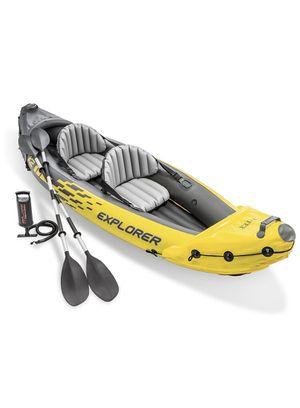 Intex Explorer K2 Kayak, 2-Person Inflatable Kayak Set with Aluminum Oars for Sale in Branchburg, NJ