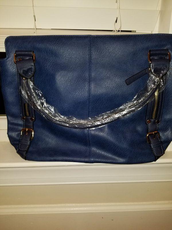 Womens Bucket Tote Shoulder Bag Leather Vintage Designer Handbags Hobo bag Diagonal Package Purses ( blue / brown)