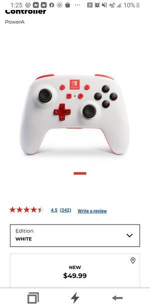White Nintendo switch controller for Gordon for Sale in Fresno, CA