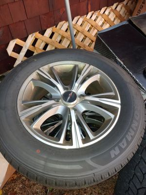 4 lug rims with brand new tires no dents or cracks for Sale in Freetown, MA