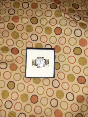 Sterling Silver Cubic Zirconia Ring - Size 7.5 for Sale in Chicago, IL