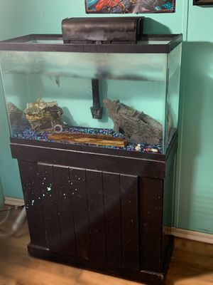29 Gallon Aquarium with filter and stand for Sale in Frostproof, FL