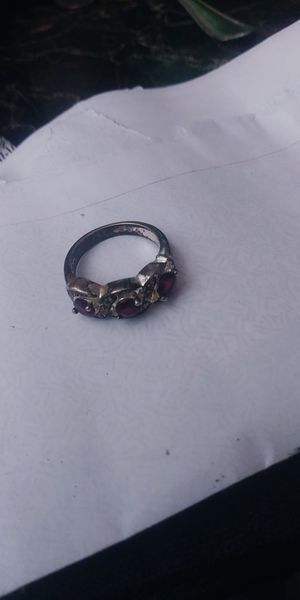 3 garnet Stone silver band ring for Sale in Fresno, CA