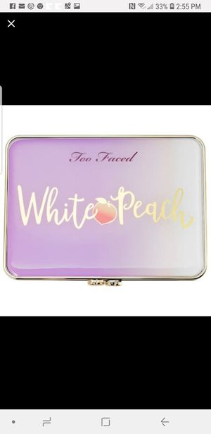 TOO FACED WHITE PEACH EYESHADOW Authentici for Sale in West Springfield, MA