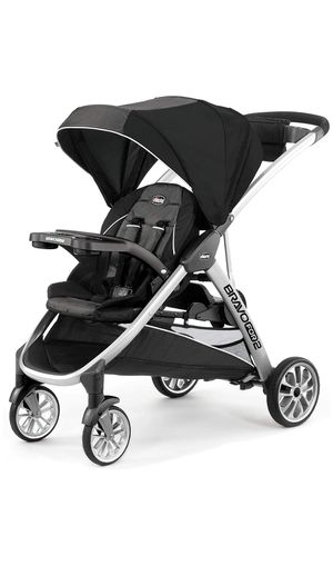 New Chicco BravoFor2 Standing/Sitting Double Stroller, Iron SUMMERLIN for Sale in Las Vegas, NV