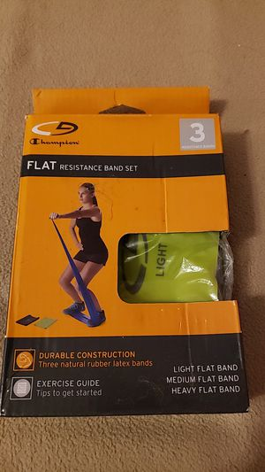 Champion Flat Resistance Band Set for Sale in Ridgefield Park, NJ