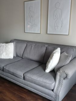 Gray Couch for Sale in Fort Worth,  TX