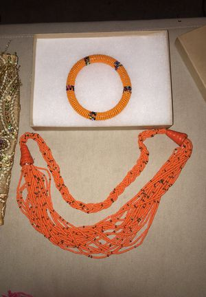 African bracelet & necklace for Sale in Mount Rainier, MD