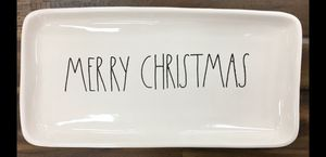 Rae dunn white merry Christmas Platter $12 for Sale in Los Angeles, CA