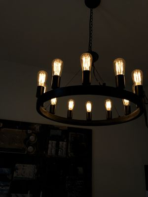 Edison bulb chandelier for Sale in West Hollywood, CA